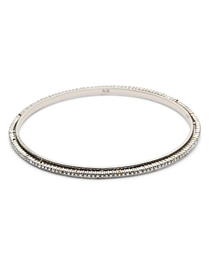 Woodland Fantasy Crystal-Encrusted Spiked Bangle Bracelet