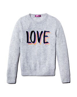 AQUA - Girls' Cashmere Love Sweater, Big Kid - 100% Exclusive