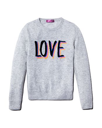 AQUA - Girls' Cashmere Love Sweater, Big Kid - 100% Exclusive