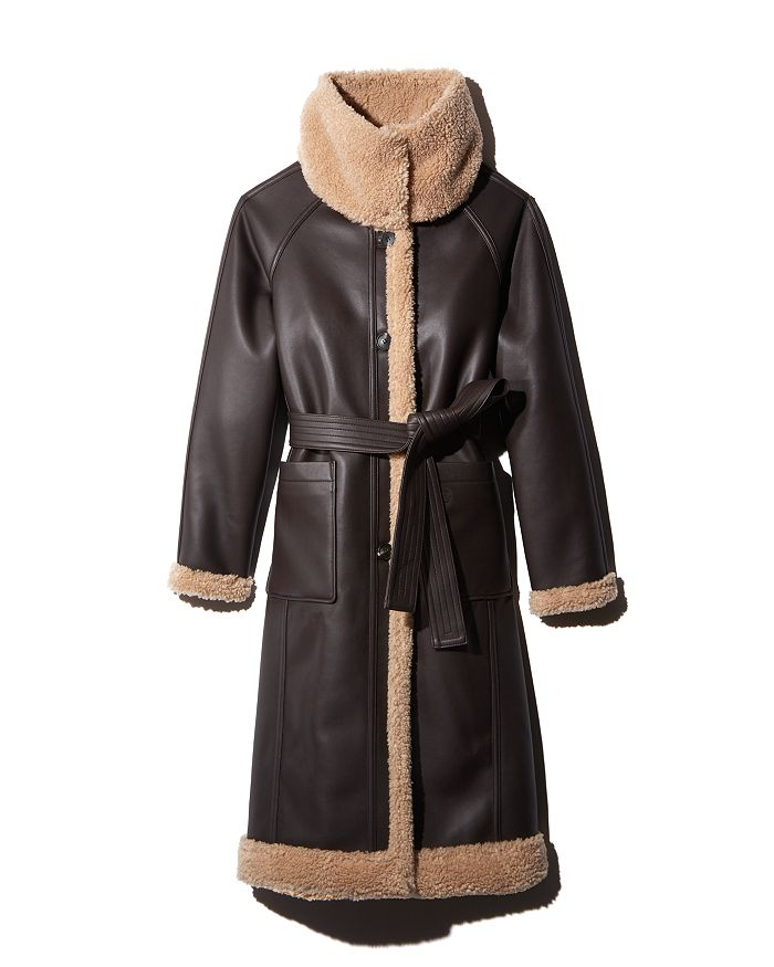 FRONTROW X RECTO. by W CONCEPT - Reversible Faux Shearling Coat