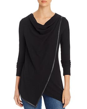 Marc New York - Cowl-Neck Waffle-Knit Top