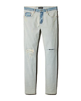 Purple Brand - Two-Toned Slim Fit Jeans in Light Indigo