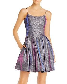 Avery G - Galaxy Glitter Cocktail Dress