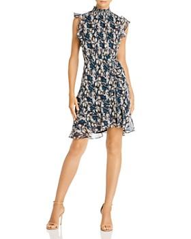 Sam Edelman - Ruched Python Mini Dress