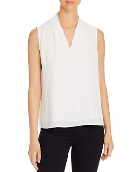 T Tahari - Edie Sleeveless V-Neck Top