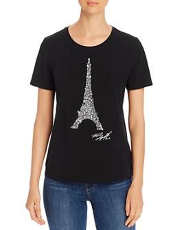 KARL LAGERFELD Paris - Beaded Eiffel Tower Tee