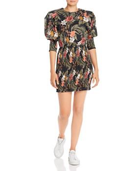 Rebecca Minkoff - Geneva Printed Smocked Cotton Mini Dress