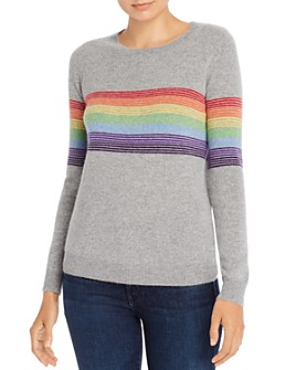 Madeleine Thompson - Humbert Rainbow-Striped Lightweight Cashmere Sweater