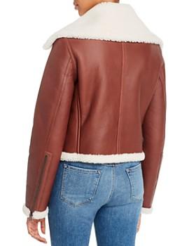 Theory - Leather & Shearling Moto Jacket