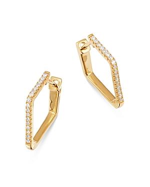 Bloomingdale's Diamond Pentagon Hoop Earrings in 14K Yellow Gold, 0.15 ct. t.w. - 100% Exclusive