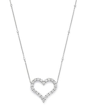 Bloomingdale's - Diamond Heart Pendant Necklace in 14K White Gold, 2.0 ct. t.w. - 100% Exclusive