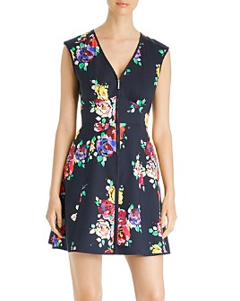kate spade new york - Rare Roses Poplin Zip-Front Dress