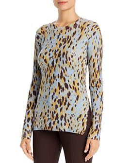 BOSS - Feleanor Virgin Wool Animal-Print Sweater
