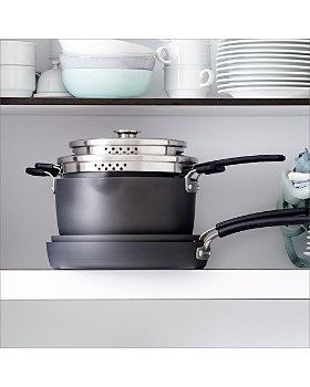 GreenPan - Levels 6-Piece Hard Anodized Stackable Ceramic Nonstick Set
