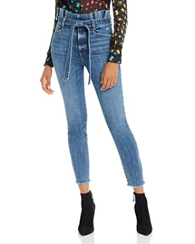 Alice and Olivia - Good Paperbag-Waist Skinny Jeans in Strictly Business