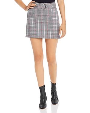 Aqua Belted Plaid Mini Skirt - 100% Exclusive