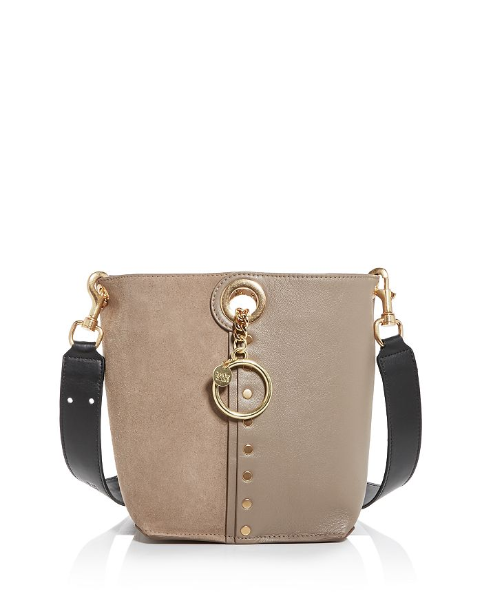See By Chloé Shoulder-bags SEE BY CHLOE GAIA LEATHER & SUEDE BUCKET BAG