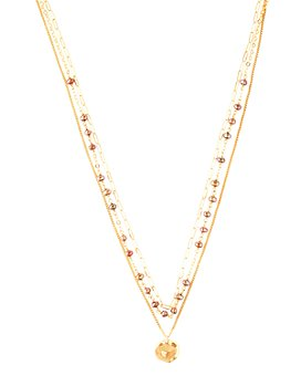 """Chan Luu - Multi Strand Adjustable Pendant Necklace in 18K Gold-Plated Sterling Silver, 15""""-18"""""""