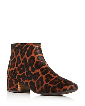 Gentle Souls by Kenneth Cole - Women's Ella Leopard-Print Calf Hair Block-Heel Booties