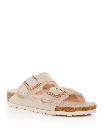 Birkenstock - Women's Arizona Shearling Slide Sandals