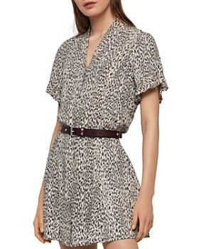 ALLSAINTS - Fay Lep Button-Front Dress