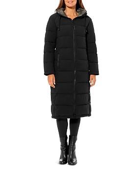 VINCE CAMUTO - Contrast Hood Maxi Puffer Coat