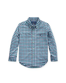 Ralph Lauren - Boys' Plaid Performance Button-Down Shirt - Little Kid