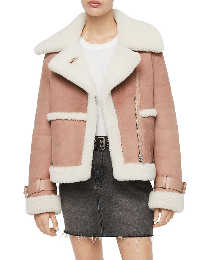 ALLSAINTS - X Farley Shearling Moto Jacket - 100% Exclusive