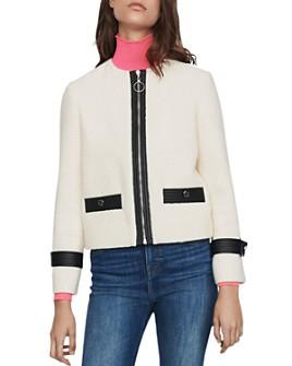 Maje - Vemma Tweed Zip Blazer