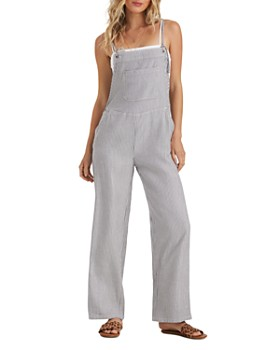Billabong - Wild Lengths Railroad-Stripe Jumpsuit
