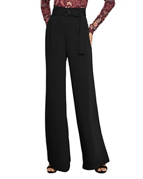BCBGMAXAZRIA - Wide-Leg Satin Pants