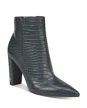 Sam Edelman - Women's Raelle Croc-Embossed Booties