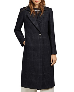 Ted Baker - Jojoe Check Straight-Sihouette Coat