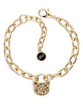 KARL LAGERFELD Paris - Small Choupette Lock & Key Adjustable Bracelet