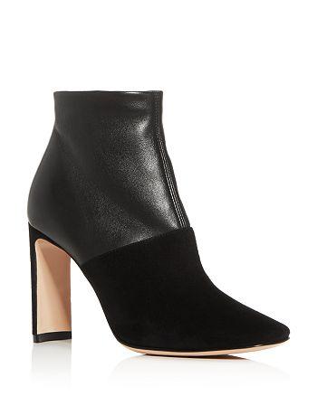 Armani - Women's Square-Toe Block-Heel Booties - 100% Exclusive