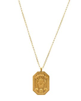 """Dogeared - Protect Me, Hamsa Tablet Necklace, 18"""""""