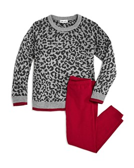 Splendid - Girls' Leopard Sweater & Leggings Set - Little Kid