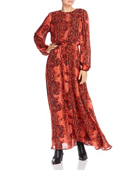 Notes du Nord - Monique Snakeskin Print Maxi Dress