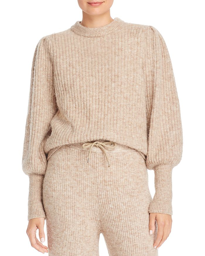 Notes du Nord - Meg Balloon-Sleeve Ribbed Knit Sweater