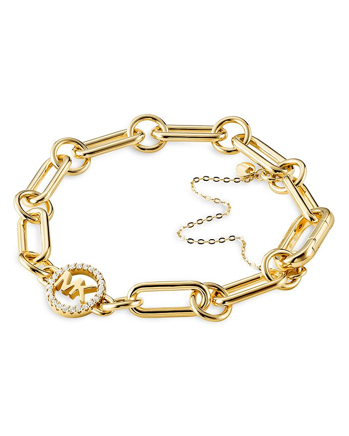 Michael Kors - Logo Link Starter Bracelet in 14K Gold-Plated Sterling Silver