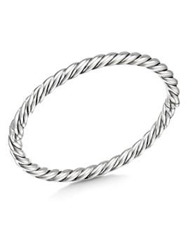 David Yurman - Sterling Silver Stax Cable Bracelet