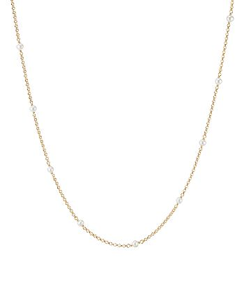 David Yurman - 18K Yellow Gold Cable Collectibles Bead & Chain Necklace with Cultured Freshwater Pearls, 36""