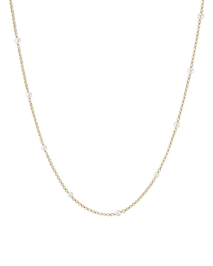 """David Yurman - 18K Yellow Gold Cable Collectibles Bead & Chain Necklace with Cultured Freshwater Pearls, 36"""""""