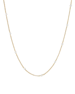 David Yurman 18K Yellow Gold Cable Collectibles Bead & Chain Necklace with Cultured Freshwater Pearls, 36