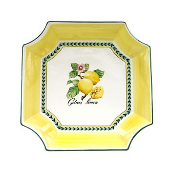 "Villeroy & Boch - ""French Garden"" Square Bowl, Large"