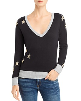 CHASER - Star Intarsia V-Neck Sweater - 100% Exclusive