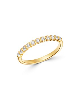 Bloomingdale's - Diamond Milgrain Stacking Band in 14K Yellow Gold, 0.25 ct. t.w. - 100% Exclusive