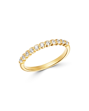 Bloomingdale's Diamond Milgrain Stacking Band in 14K Yellow Gold, 0.25 ct. t.w. - 100% Exclusive