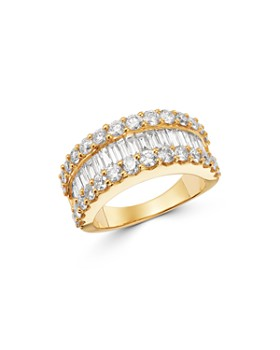 Bloomingdale's - Round & Baguette Diamond Statement Band in 14K Yellow Gold, 3.0 ct. t.w. - 100% Exclusive