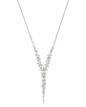Bloomingdale's Diamond Feather Y Necklace in 14K White Gold, 1.50 ct. t.w. - 100% Exclusive